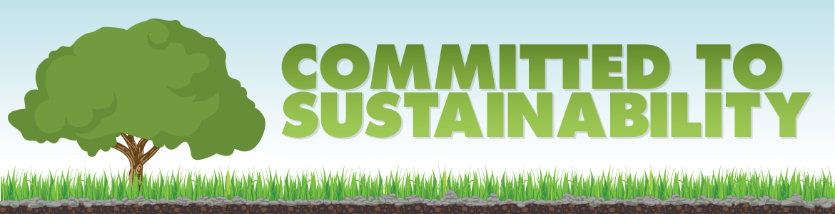 Committed to Sustainability Banner.